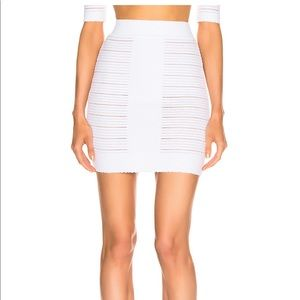 Balmain High Waisted Medical Stripe Skirt